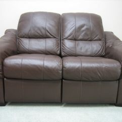 Two Seater Recliner Sofa Gumtree Karlaby Bed Manual Leather Settee 2 Brown In