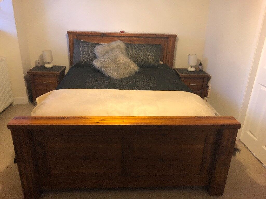 bedroom chair gumtree ferndown ashley furniture and a half complete matching solid wood set in