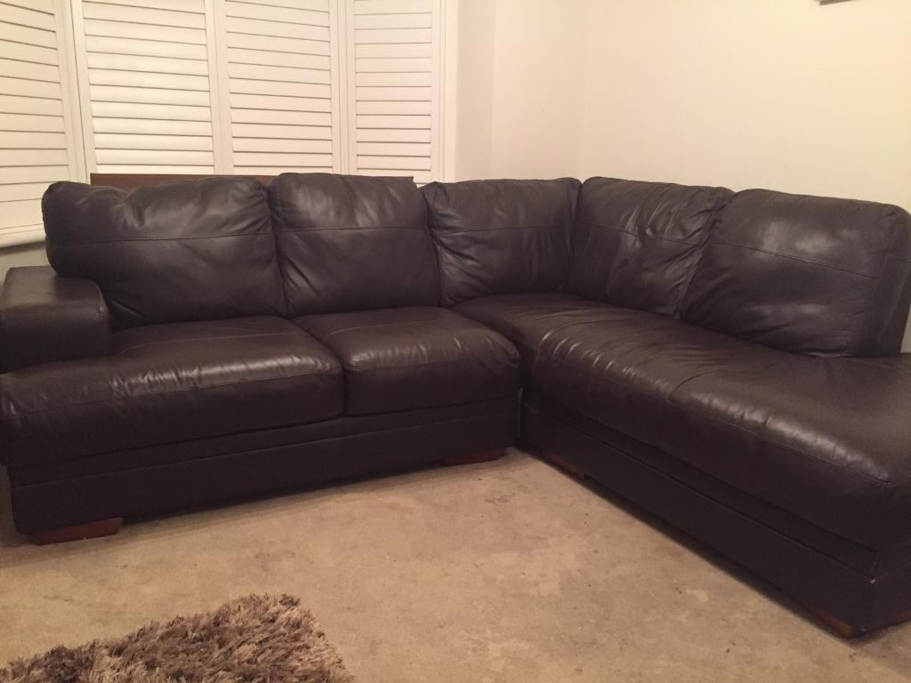 two seater recliner sofa gumtree sleeper bar shield review brown leather corner from dfs. | in ferndown, dorset ...