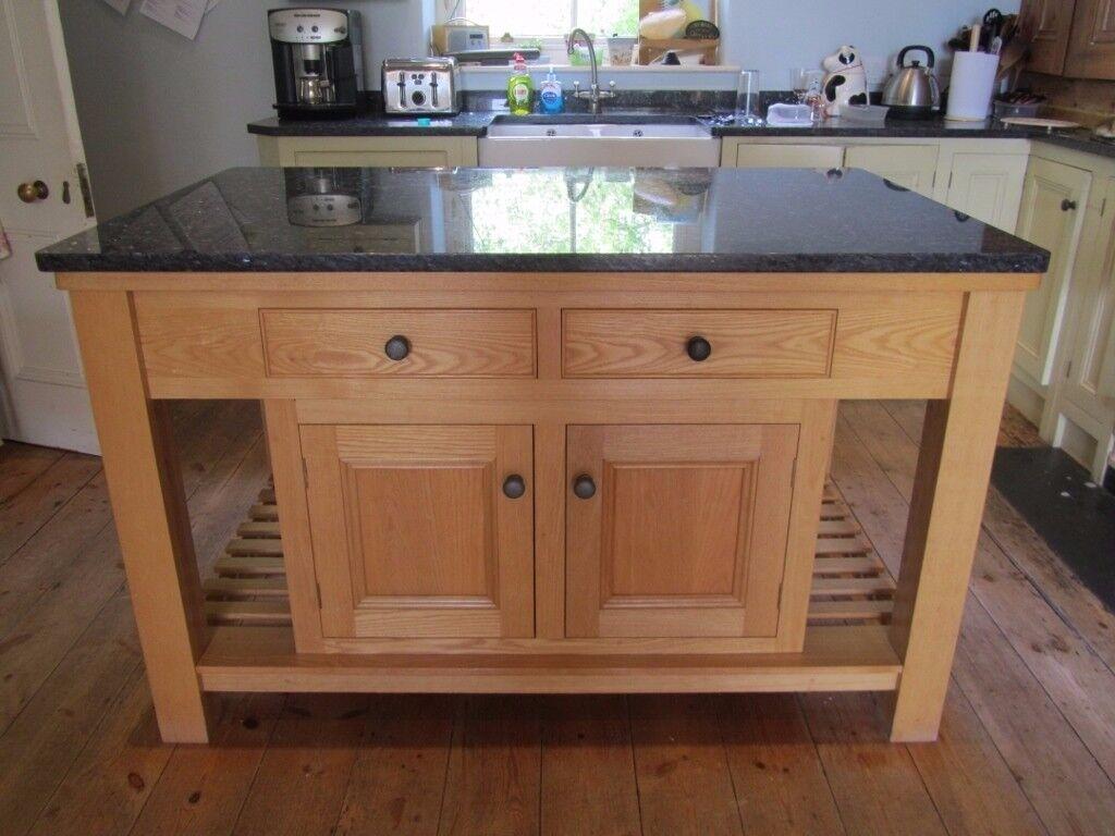 kitchen island marble top costco aid mixer granite topped unit in yelverton devon