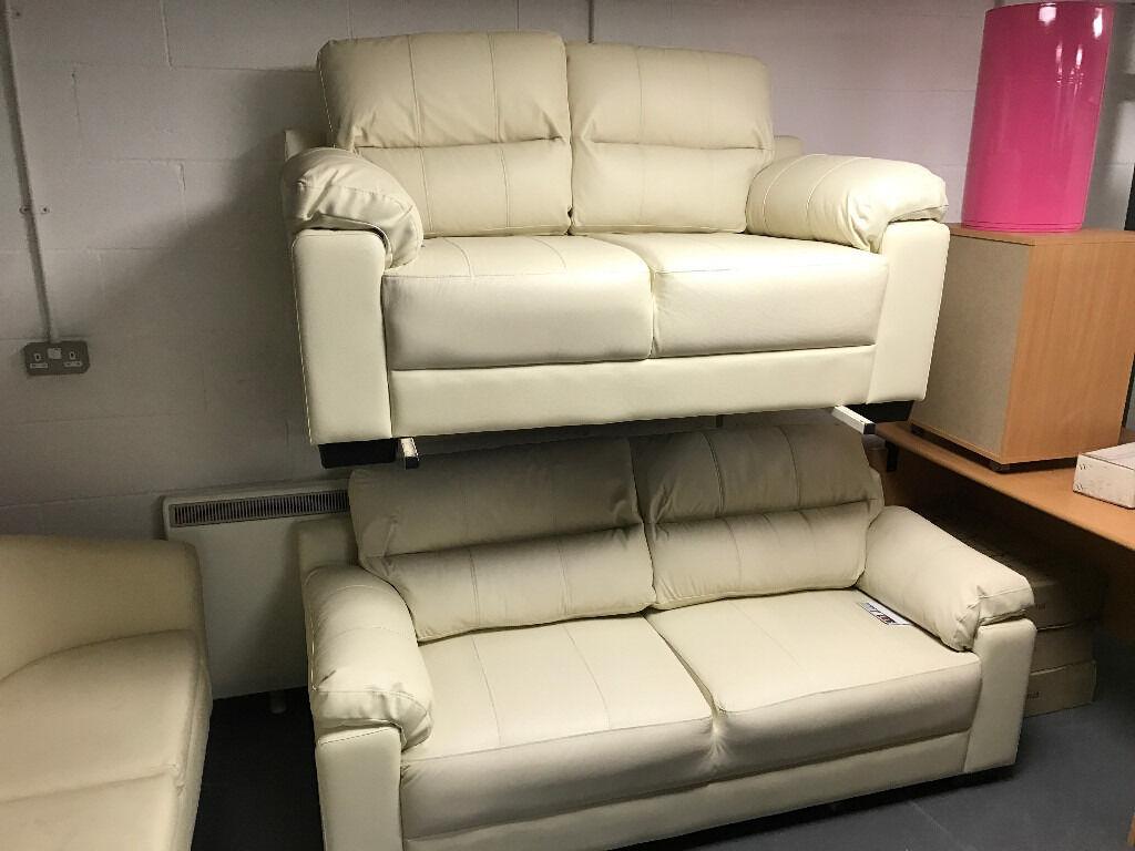 ivory sofa set second hand purple saskia real leather 3 seater 43 2