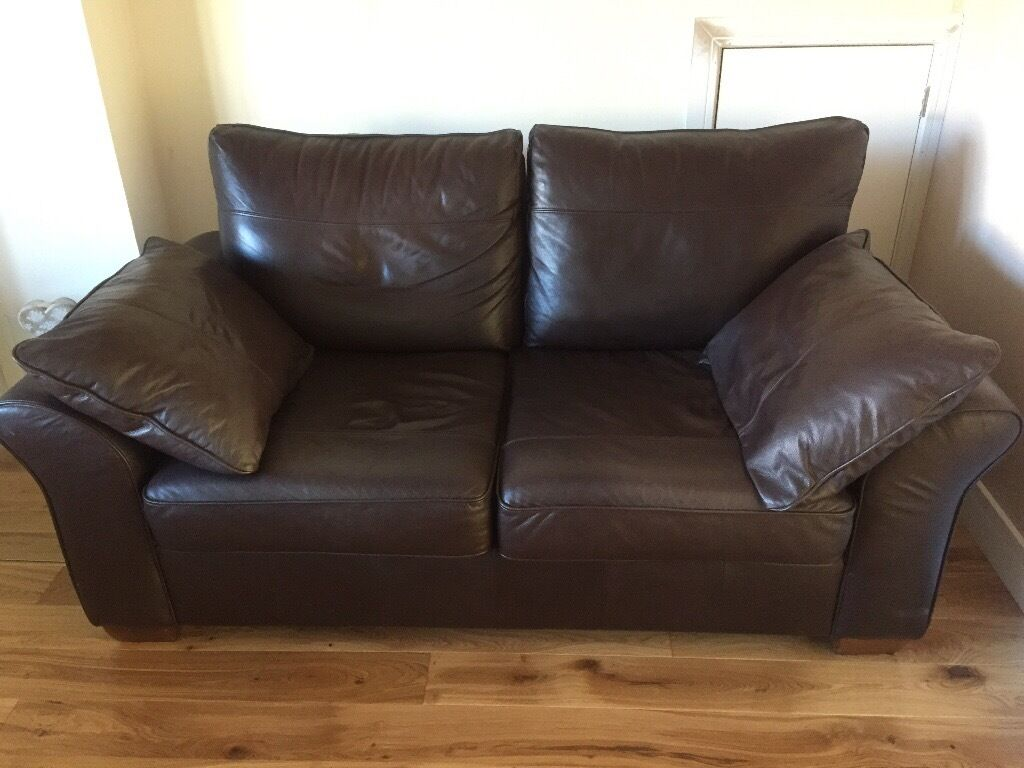 2 seater leather sofa next slipcover for chair brown seat sofas from in thornbury