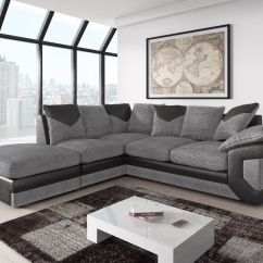 Manhattan Five Seater Sofa Set 3 1 Brown Bed With Chaise Toronto Brand New Fabric And Leather Corner 43 Extras In Black