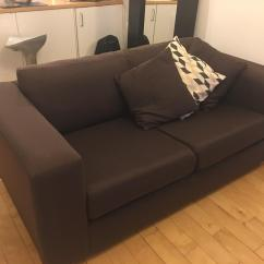 Sofa London Gumtree Leather With Wooden Frame Burgundy 2 Seats In City Of