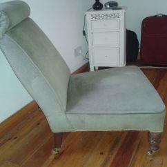 Bedroom Chair On Gumtree Linen Dining Covers Australia Vintage Pale Green Casters In Belper