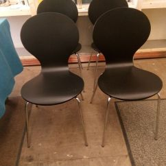 Black Dining Room Chairs With Chrome Legs Fisher Price High Chair Precious Planet 4 Made Com Kitch In Brand New
