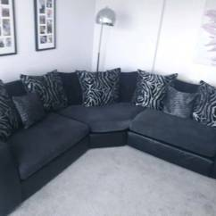 Leather Or Fabric Sofa For Dogs Kessler Brown 4 Piece Outdoor Wicker Sectional Set Corner Black And Grey In Blacon