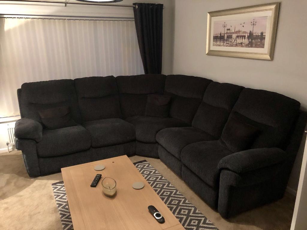 small black fabric corner sofa deep couches and sofas la z boy lazyboy tamla static 2 in