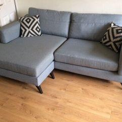 Grey Leather Corner Sofa Dfs Armrest Trays Maya In Moseley West Midlands Gumtree
