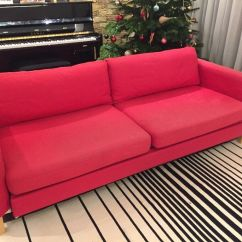 Karlstad 3 Seat Sofa Bed Cover With Wood Slats Ikea Seater Pink Covers In Wimbledon