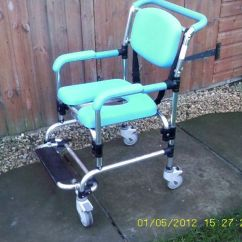 Shower Chairs With Wheels Carex Chair Wheel Commode Very Good Condition Bargain