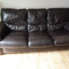 3 Seater Leather Sofa Dfs Eames Compact Reupholster Free From In Dunstable