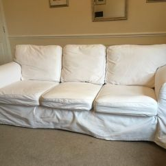 White Sofa Slipcover Cotton Dfs Bed Fling Ikea Ektorp 3 Seater Blekinge Covers 100