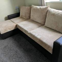 Second Hand Corner Sofa Bed Brighton Black Fabric Sectional With Chaise Left Or Right Brand New