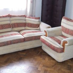 2 Seater Sofa And Armchairs Curved Corner Bed Armchair Free Delivery Within