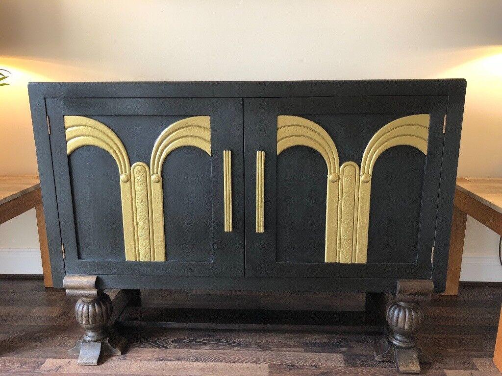 art deco sofas on gumtree le corbusier uk oak black and gold sideboard furniture in