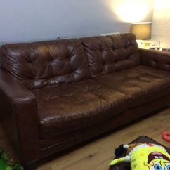Leather Sofa Brown Dfs Kincaid Sectional Sofas Used In Bury Manchester Gumtree