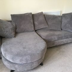 Charcoal Grey Leather Corner Sofa Dry Cleaners Dye Covers Dfs Lounger In Abingdon