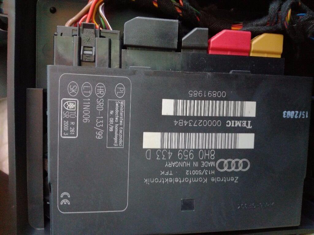 car battery wiring diagram back of throat audi a4 cabrio convertible comfort control module 8h0959433d 8h0 959 433 d | in kelvinbridge ...