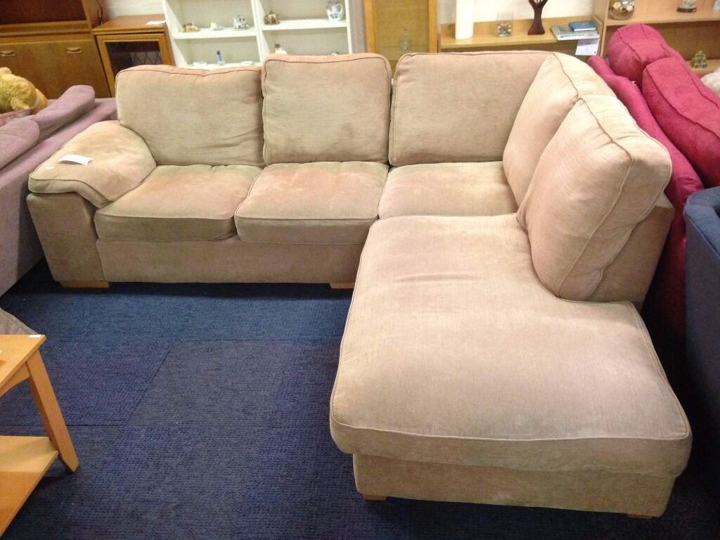 brown fabric corner sofa dfs chaise sectional sleeper in southside glasgow gumtree
