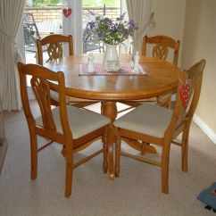 Pine Kitchen Chairs For Sale Folding Chair Set Dinning Room Table And 4 In Cwmavon