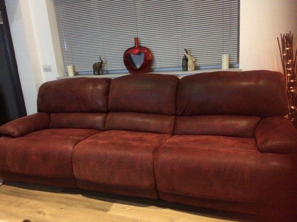triple reclining sofa metal frame uk in sompting west sussex gumtree