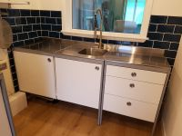 Ikea UDDEN stainless steel freestanding kitchen unit with ...