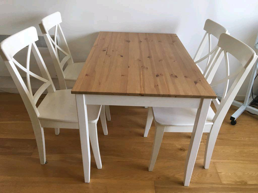 ikea ingolf chair glides for tile floors dining table lerhamn in woodford london gumtree