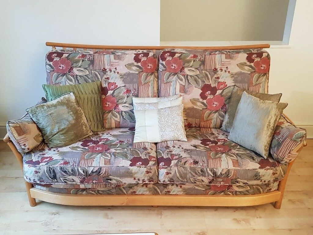 retro sofas london chaise lounge single sofa bed vintage ercol furniture large and 2 armchairs