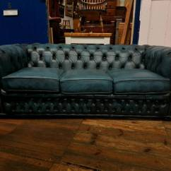 Sofa Collection Charity Leicester Seat Height 22 Inches Blue Winchester Chesterfield In Barwell