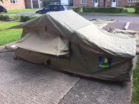 Howling Moon roof tent, under tent, safari awning and