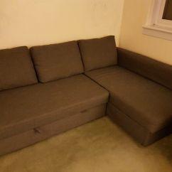 Solsta Sofa Bed Ransta Dark Gray 149 00 Sears Black Sectional Perfect Condition Ikea Friheten Corner With
