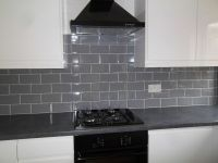 NEW 3 square meters GLOSS GREY BEVELLED METRO WALL TILES