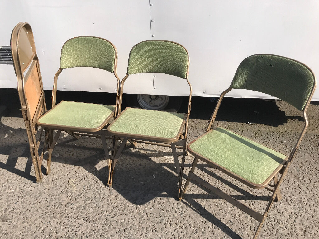 folding chair job lot 3 in one high retro vintage industrial look interlocking sandler seating upcycle project