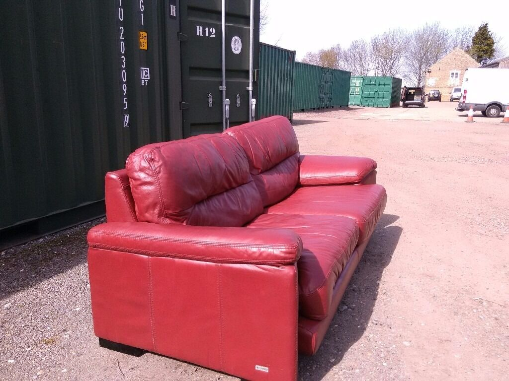 big chunky corner sofas flexsteel reclining sofa latitudes violino red leather 4 seater for sale in very good
