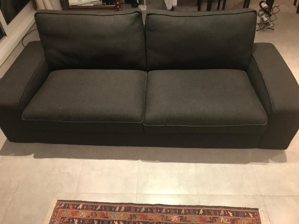 bed and sofa warehouse leeds restoration hardware track arm leather three seat ikea model kivik cover hillared anthracite in
