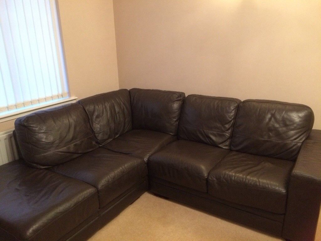 leather sofas second hand glasgow pay monthly no credit check uk 250 2 reids brown corner in cumbernauld