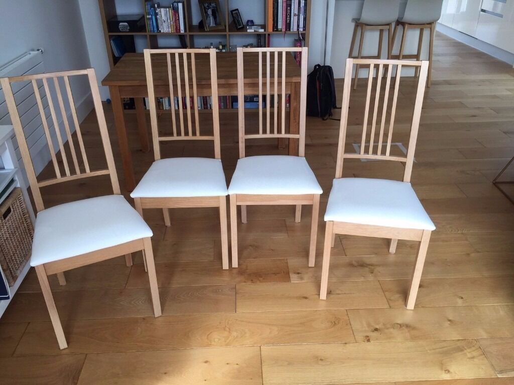 ikea dining table chair covers academy lawn chairs ekensberg oak and matching 4 borje