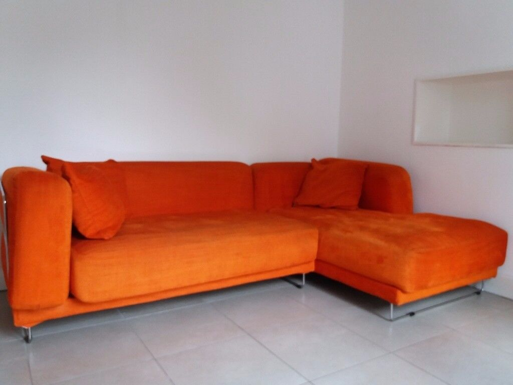 burnt orange sofa and loveseat aniline leather suppliers ikea tylÖsand corner in southside