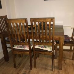 Dining Room Table And Chairs Gumtree Movie Theatre Sheesham Wood 4 In Islington