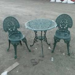 Cast Iron Table And Chairs Gumtree Modern Salon Ornate Aluminum 2 Bistro