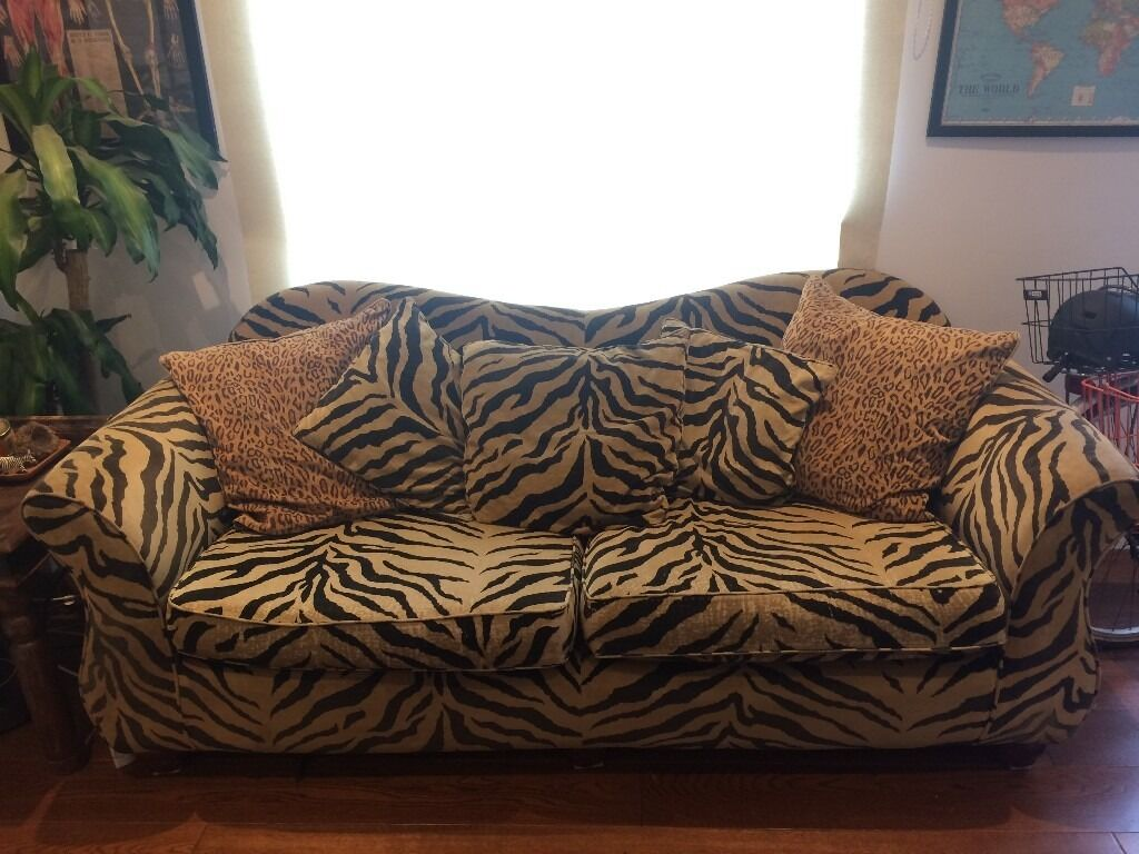tiger print chair cover hire newbury zebra sofa couches and ivory ideas