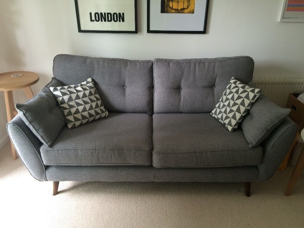 French Grey Sofa Contemporary Sofas Made In Blighty Loaf