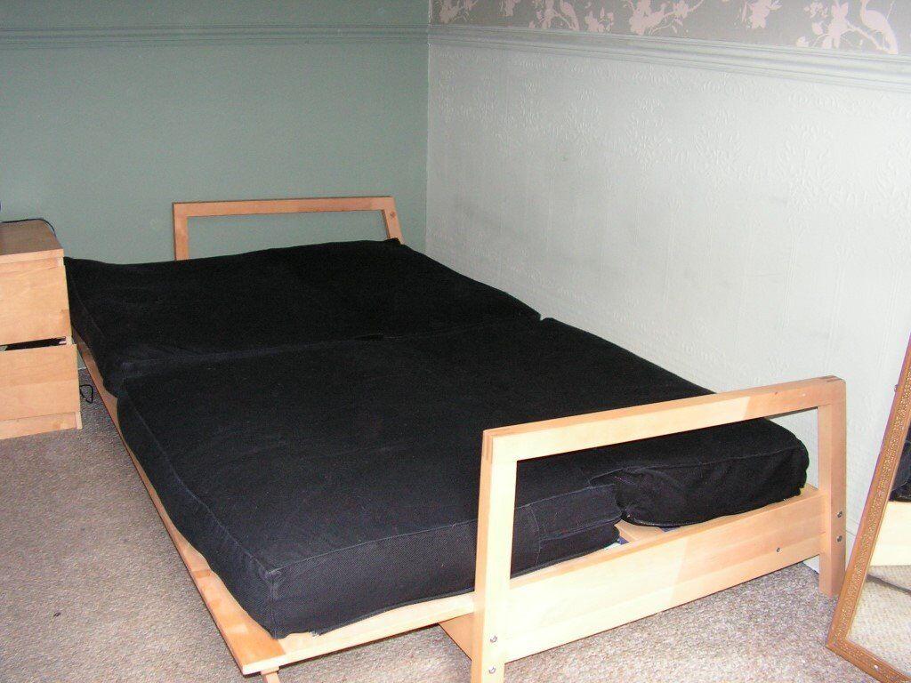solsta sofa bed ransta dark gray 149 00 cost of reupholstering uk wood futon frame ikea  roselawnlutheran