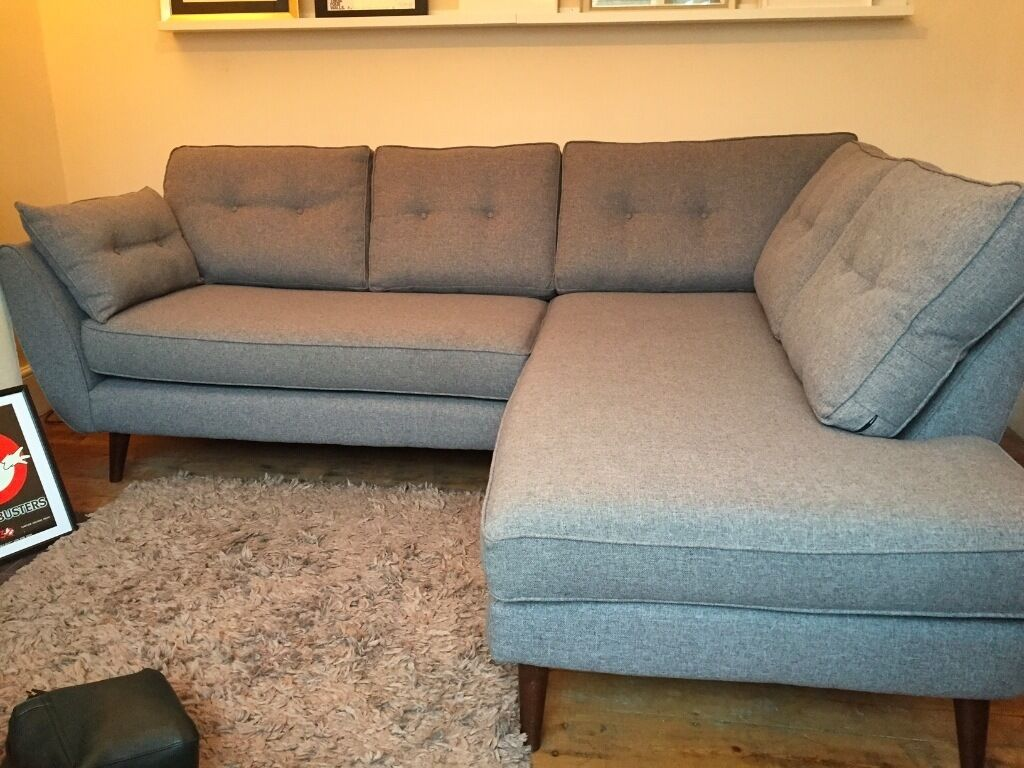 French Connection Zinc Grey Sofa Dfs In Swindon Wiltshire Gumtree