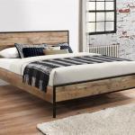 Retro Industrial 4 6 Bed Frame Vintage Standard Double Bed Frame Ebay