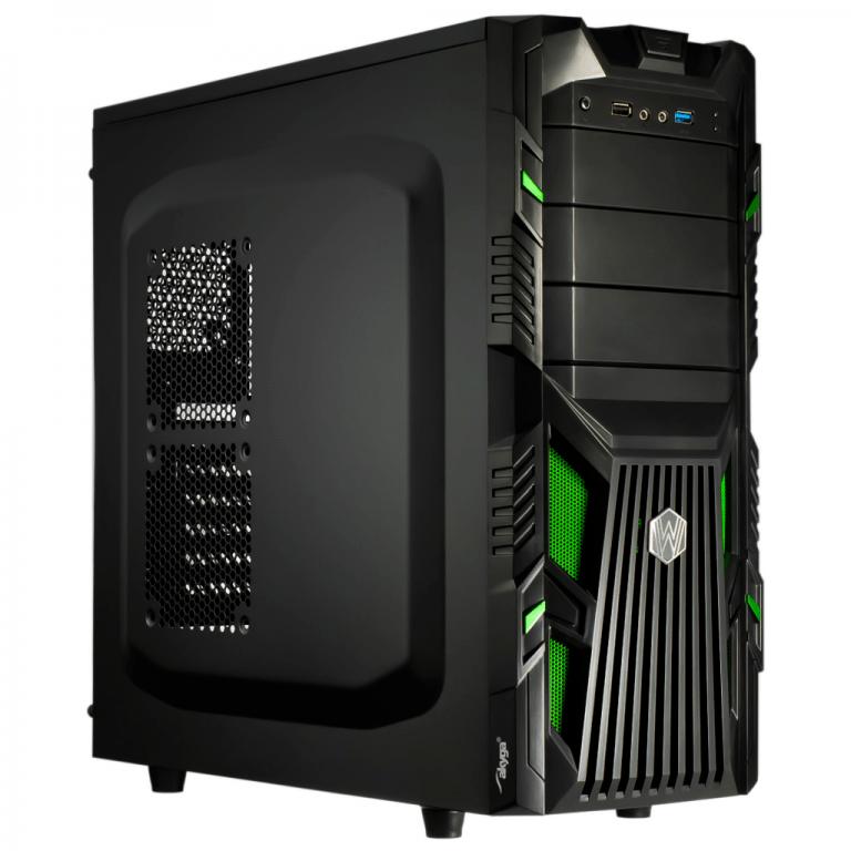 PC Computer Gehäuse Midi Tower ATX AKY007BG micro ATX USB 3.0 ohne Netzteil