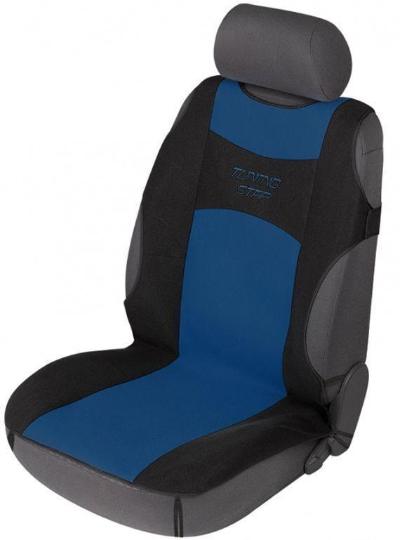 Sitzschoner Tuning Star schwarz/blau Schonbezug Sitzbezug universell verwendbar