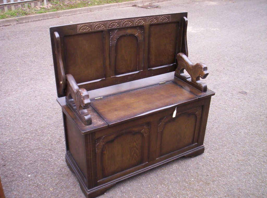 ikea poang chair parts high chairs target lovely decorative oak vintage monks bench settle hall seat   in spalding, lincolnshire gumtree