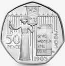 2003 50P COIN RARE GIVE WOMEN THE VOTE SUFFRAGETTE 100TH ANN  FIFTY PENCE (bi)